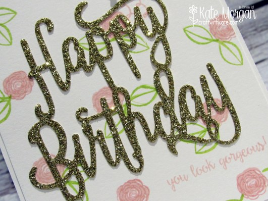 Happy Birthday Gorgeous by Kate Morgan, Independent Stampin' Up! Demonstrator Australia JAI copy