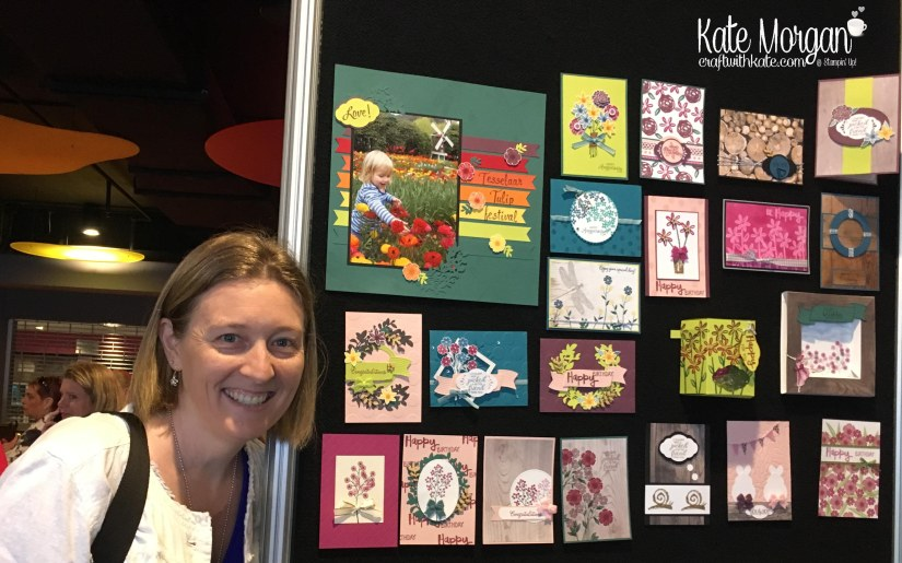 #onstage2017 display stamper samples by Kate Morgan, Independent Stampin Up demonstrator Australia