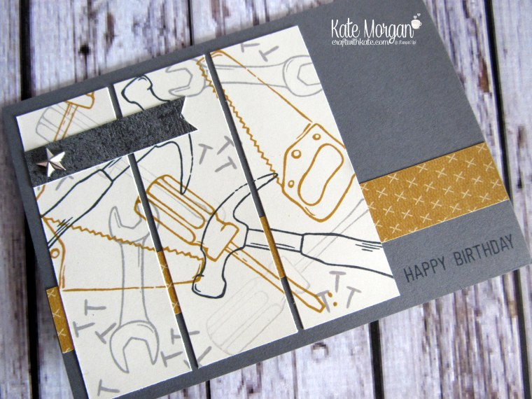 Nailed It Urban Underground Masculine card by Kate Morgan Independent Demonstrator Australia side