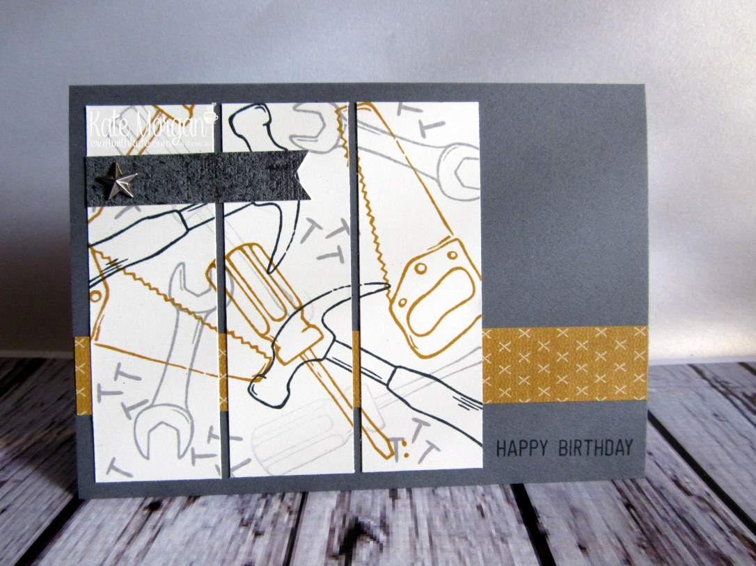 Nailed It Urban Underground Masculine card by Kate Morgan Independent Demonstrator Australia