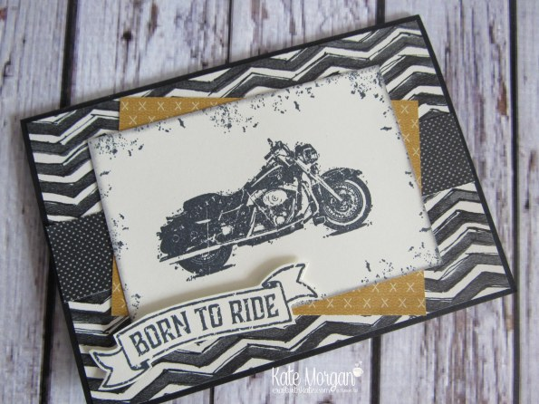 One Wild Ride Urban Underground Masculine card by Kate Morgan Independent Demonstrator Australia side