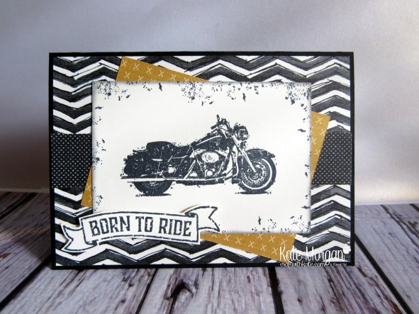 One Wild Ride Urban Underground Masculine card by Kate Morgan Independent Demonstrator Australia