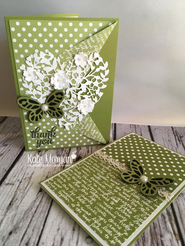 Thank you Gift for OnStage using Stampin Ups Bloomin Heart thinlits & Butterflies by Kate Morgan, Independent Demonstrator Australia. Notepad 2017