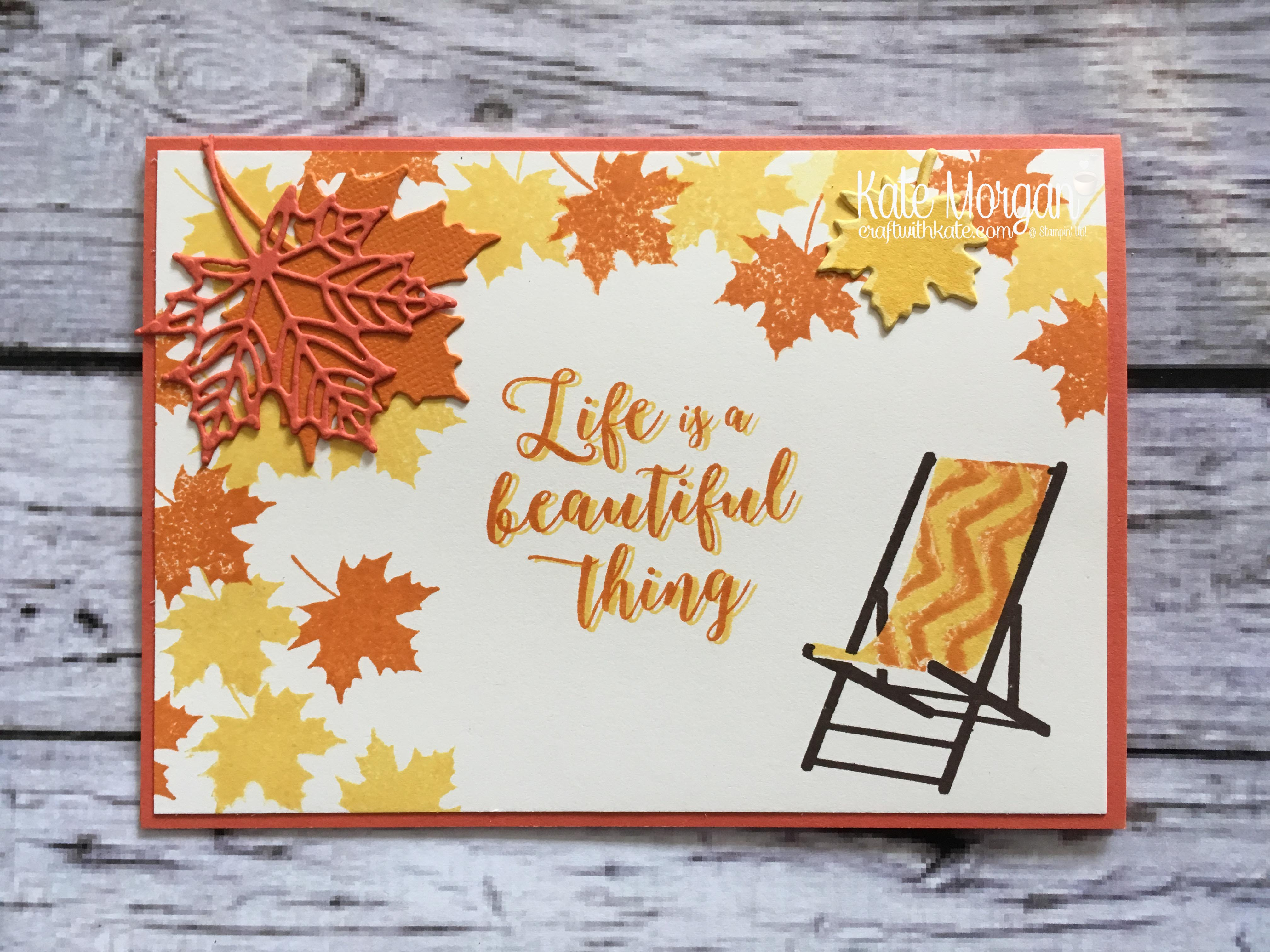 Autumn - Colourful Season & Seasonal Layers Thinlits by Kate Morgan, Independent Stampin Up demonstrator, Australia