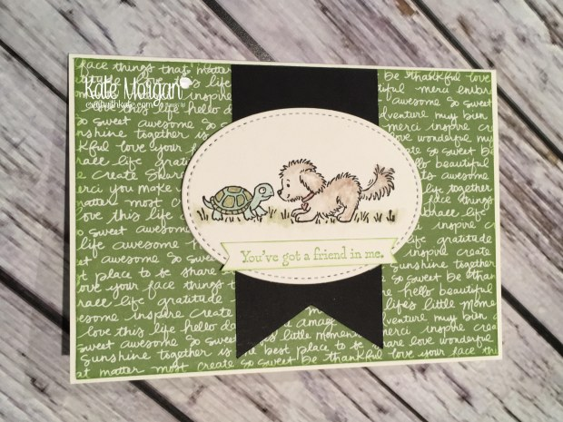 Bella & Friends with turtle by Kate Morgan, Independent Stampin Up demonstrator, Australia