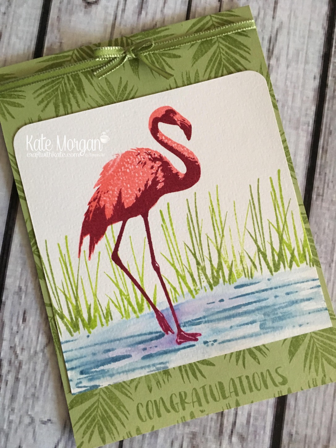Fabulous Flamingo by Kate Morgan, Independent Stampin Up demonstrator, Australia side