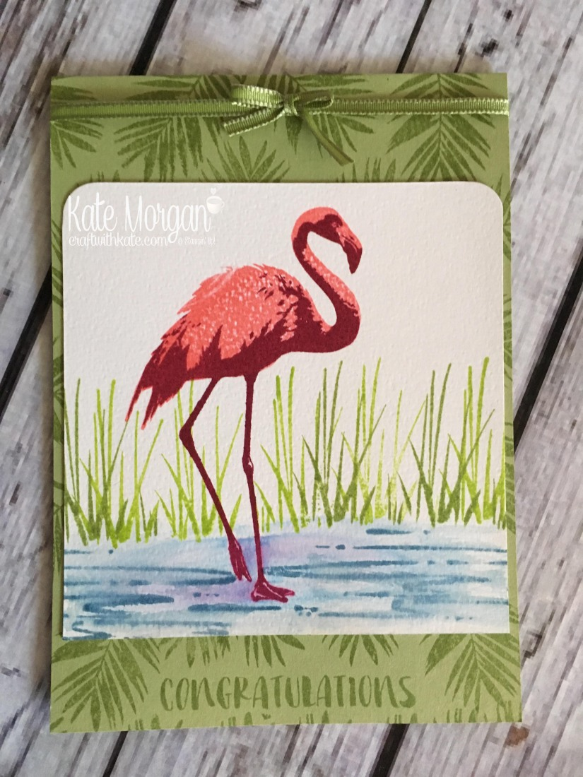 Fabulous Flamingo by Kate Morgan, Independent Stampin Up demonstrator, Australia