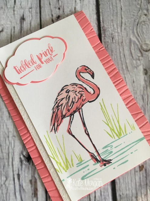 Fabulous Flamingo Tickled Pink by Kate Morgan, Independent Stampin Up demonstrator, Australia #stampinup