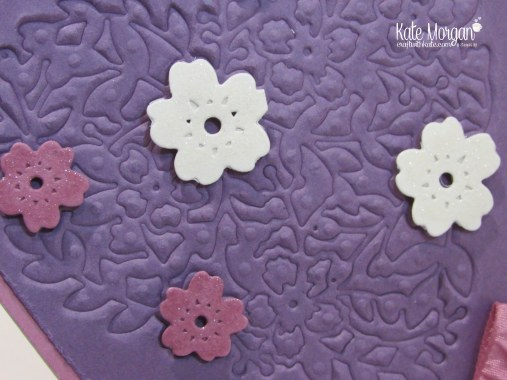 Faux Embossing with Bloomin Heart Thinlits, by Kate Morgan, Independent Demonstrator #stampinup DIY