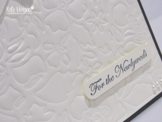 Faux Embossing with Detailed Floral Thinlits by Kate Morgan, Independent Demonstrator, #stampinup Craft with Kate, DIY