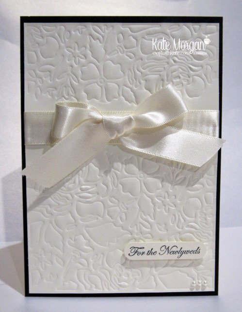 Faux Embossing with Detailed Floral Thinlits by Kate Morgan, Independent Demonstrator, #stampinup DIY