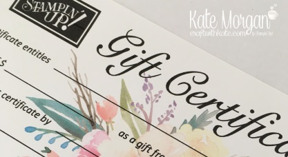 Stampin' Up! Gift Certificate from Craft with Kate Morgan