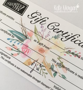 Stampin' Up! Gift Certificate from Craft with Kate