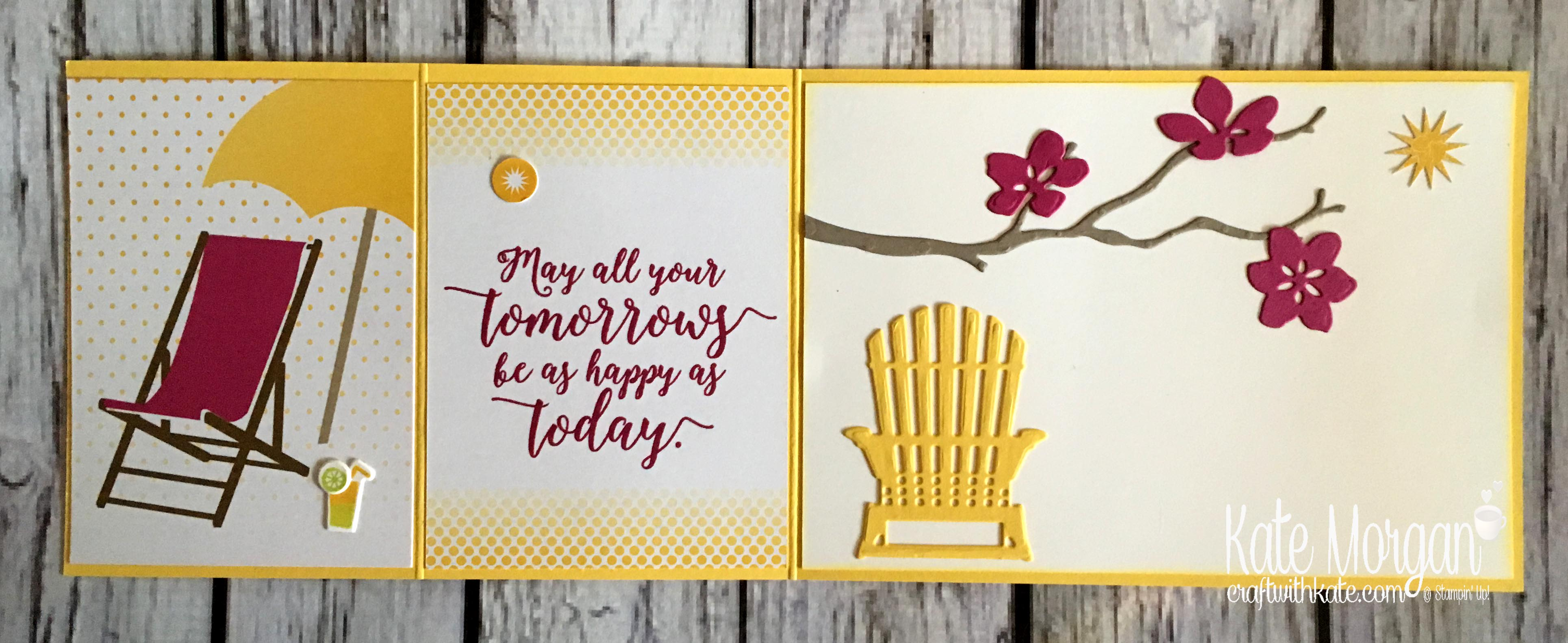 Summer - Colourful Season & Seasonal Layers Thinlits by Kate Morgan, Independent Stampin Up demonstrator, Australia open