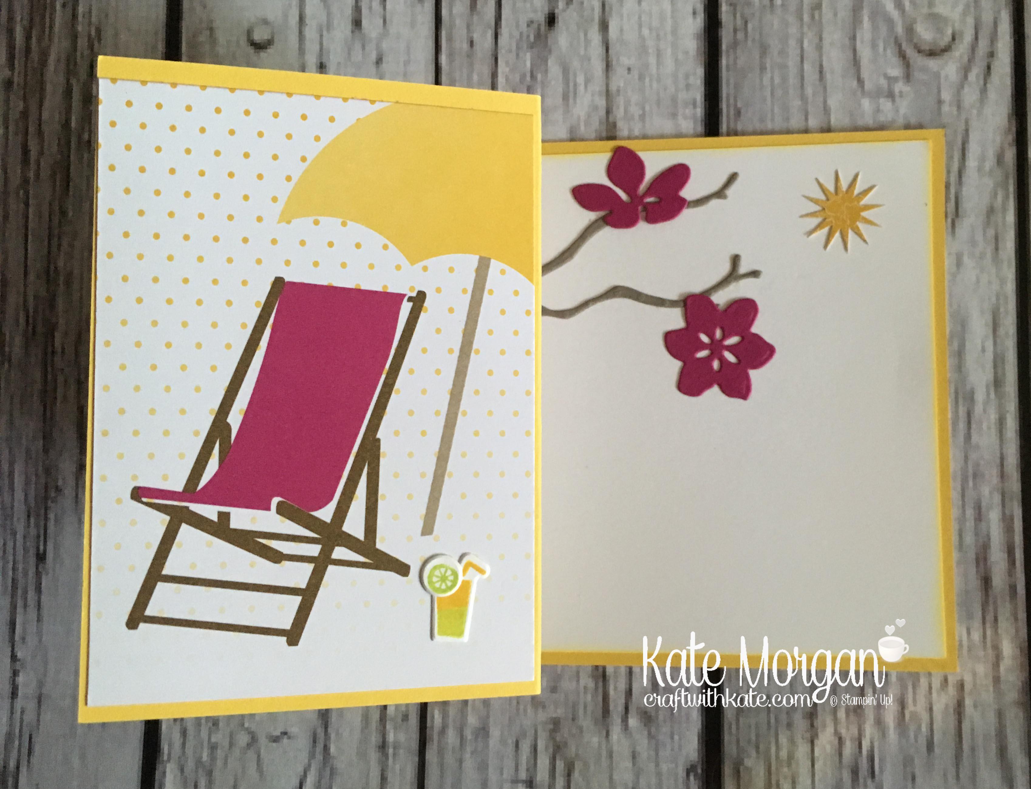 Summer - Colourful Season & Seasonal Layers Thinlits by Kate Morgan, Independent Stampin Up demonstrator, Australia