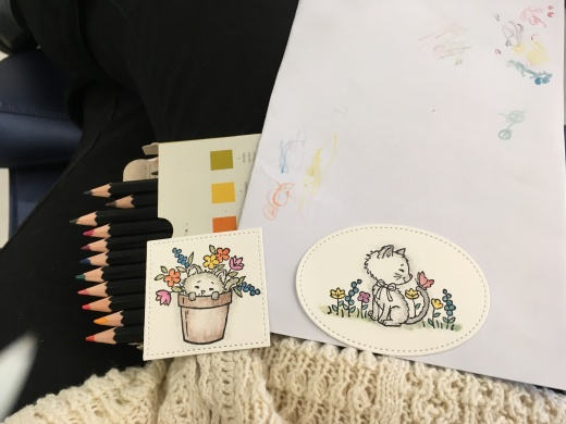 Watercolouring images of Pretty Kitty