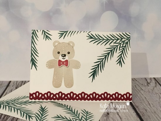 Christmas card using Christmas Pines and Cookie Cutter Christmas by Kate Morgan, Independent Stampin' Up! Demostrator, Australia.JPG