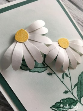 Daisy Delight Thank You card by Kate Morgan, Independent Stampin' Up! Demostrator, Australia 3D Handmade