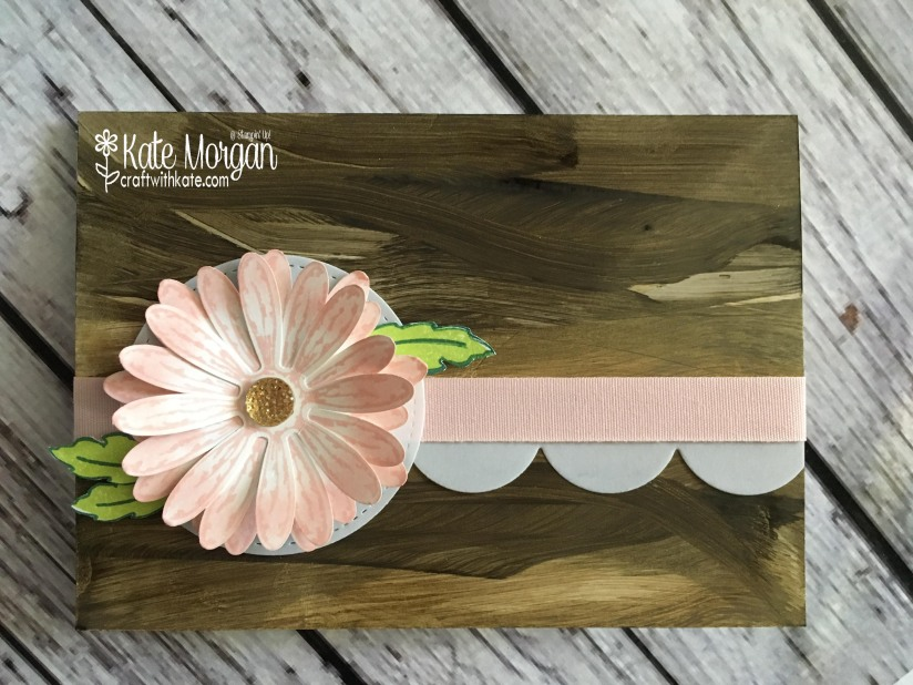 Daisy Delight with Faux Woodgrain Technique by Kate Morgan, Independent Stampin' Up! Demonstrator, Rowville. 3D Handmade card.JPG