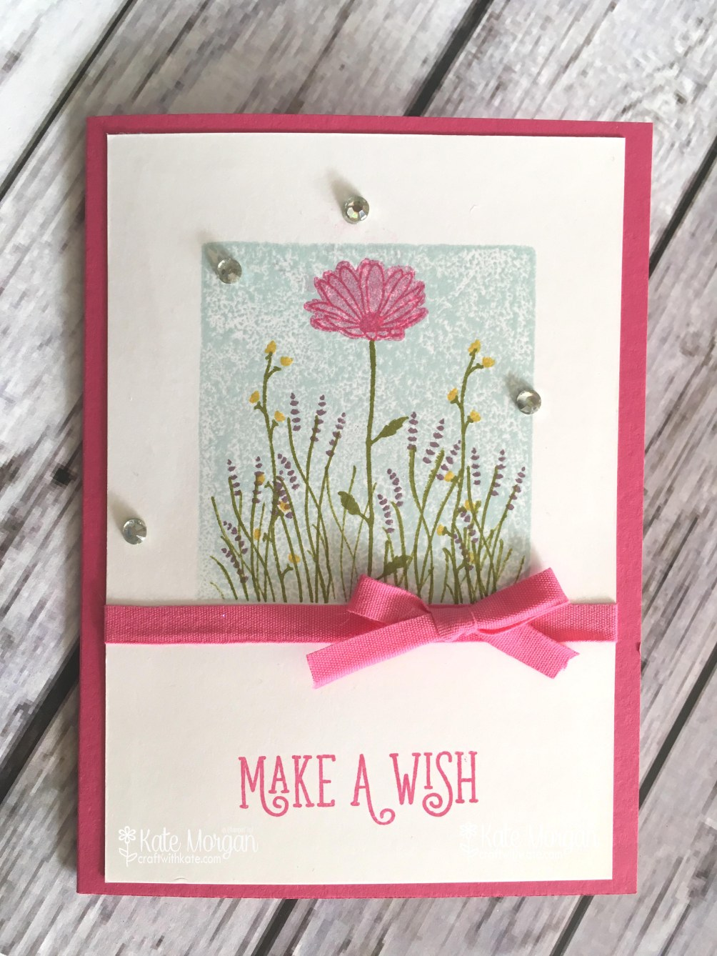 Stamping Block Technique with Daisy Delight and Happy Birthday Gorgeous by Kate Morgan, Independent Stampin' Up! Demostrator, Australia.JPG