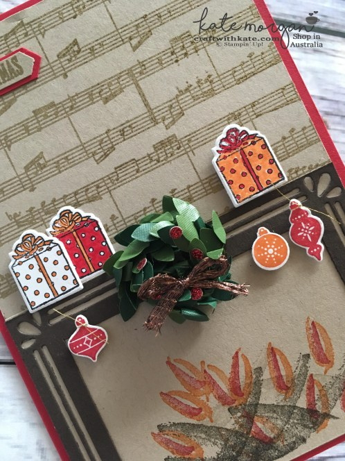 Carols of Christmas, Pait Play & at Home with You by Kate Morgan Independent Stampin Up Demonstrator Australia Heart of Christmas 3D Sheet Music