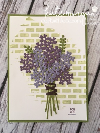 Embossing Paste, Texture made easy, using Stampin Ups Beautiful Bouquet Bundle by Kate Morgan, Independent Demonstrator, Australia.