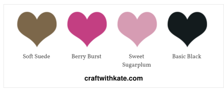 Favourite Colour Combination Blog Hop for Art with Heart Team by Kate Morgan, Independent Stampin Up Demonstrator, Australia. TAMS Color Builder