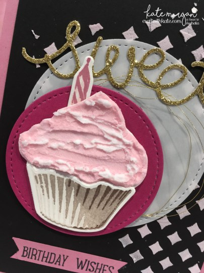 Favourite Colour Combination using Stampin Ups Sweet Cupcake by Kate Morgan, Independent Stampin Up Demonstrator, Australia for Art with Heart Team Blog Hop 3D Embossing Paste.JPG