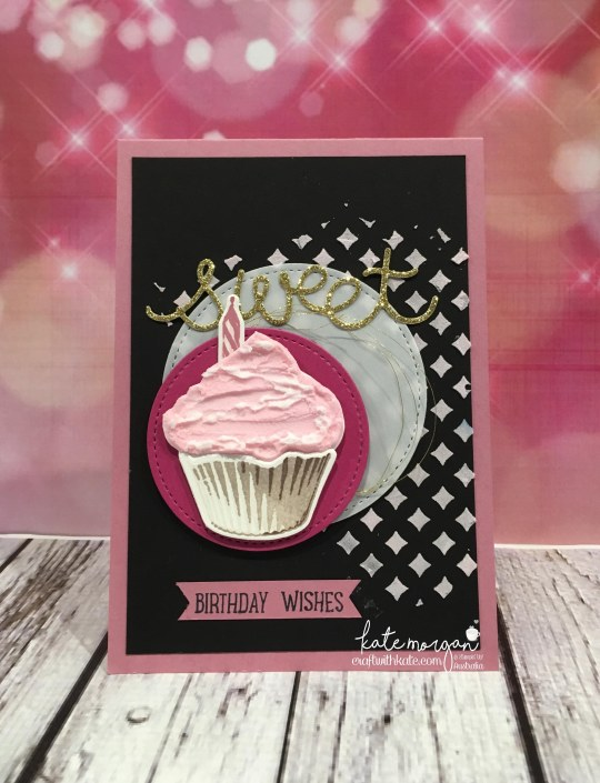 Favourite Colour Combination using Stampin Ups Sweet Cupcake & Embossing Paste by Kate Morgan, Independent Stampin Up Demonstrator, Australia for Art with Heart Team Blog Hop.