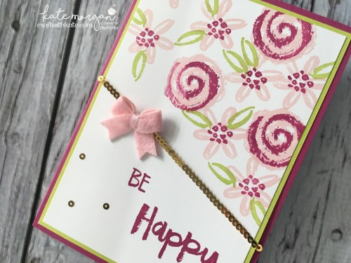 Floral Handmade Card using Stampin' Up!s Paint Play by Kate Morgan, Independent Stampin' Up! Demonstrator, Australia DIY