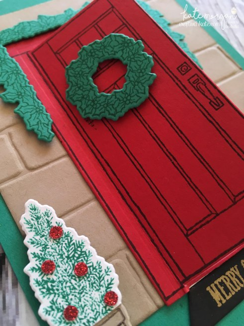 Heart of Christmas card using Stampin Ups At Home with You by Kate Morgan, Independent Demonstrator, Australia closeup
