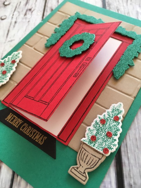 Heart of Christmas card using Stampin Ups At Home with You by Kate Morgan, Independent Demonstrator, Australia open