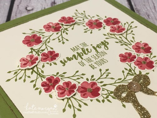 Heart of Christmas Card using Stampin Ups Jar of Love, Everyday Jars Framelits & Christmas Pines by Kate Morgan, Independent Demonstrator Australia DIY Xmas