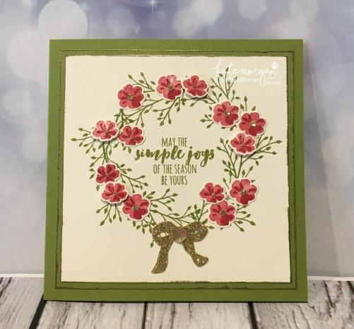 Heart of Christmas Card using Stampin Ups Jar of Love, Everyday Jars Framelits & Christmas Pines by Kate Morgan, Independent Demonstrator Australia, DIY