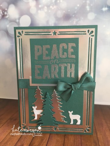 Heart of Christmas Week 9 using Stampin Ups Carols of Christmas by Kate Morgan, Independent Demonstrator Australia AWHT Handmade card 3D DIY