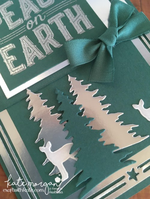 Heart of Christmas Week 9 using Stampin Ups Carols of Christmas by Kate Morgan, Independent Demonstrator Australia AWHT Handmade card 3D