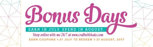 Stampin Up Bonus Days 2017 at CraftwithKate