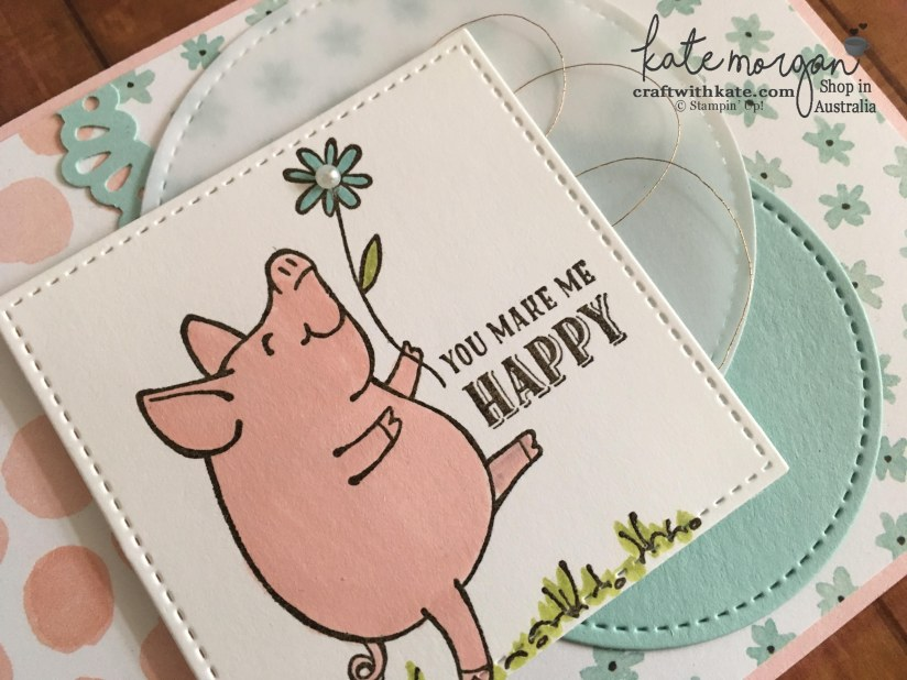 This Little Piggy by Kate Morgan, Indpendent Stampin Up! Demonstrator, Australia #cutitnothoardit