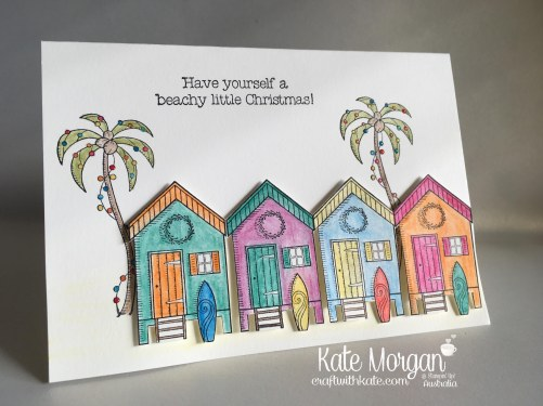 Aussie Christmas Card using Stampin Up Beachy Little Christmas by Kate Morgan, Independent Demonstrator, Australia. DIY, Handmade
