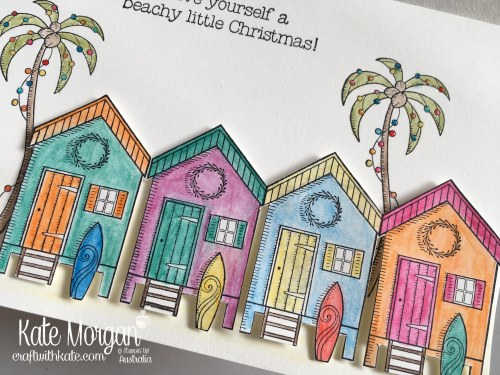 Aussie Christmas Card using Stampin Up Beachy Little Christmas by Kate Morgan, Independent Demonstrator, Australia. DIY