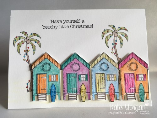 Aussie Christmas Card using Stampin Up Beachy Little Christmas by Kate Morgan, Independent Demonstrator, Australia.JPG