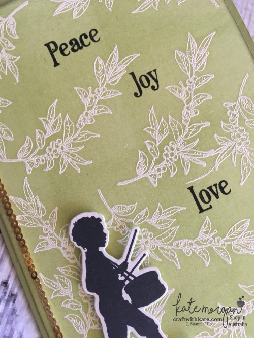 Christmas Card using Stampin Ups Musical Season by Craft with Kate Independent Demonstrator Australia 2017 closeup