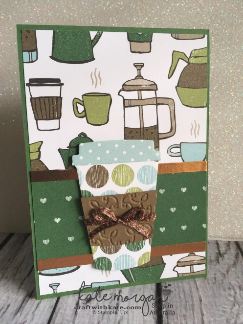 Handmade Card using Stampin Ups Coffee Cafe by Craft with Kate Independent Demonstrator Australia 2017