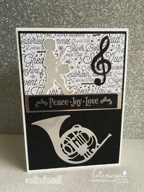 Handmade Christmas card using Stampin Up Musical Season Bundle & Merry Music DSP by Kate Morgan, Independent Demonstrator, Australia.