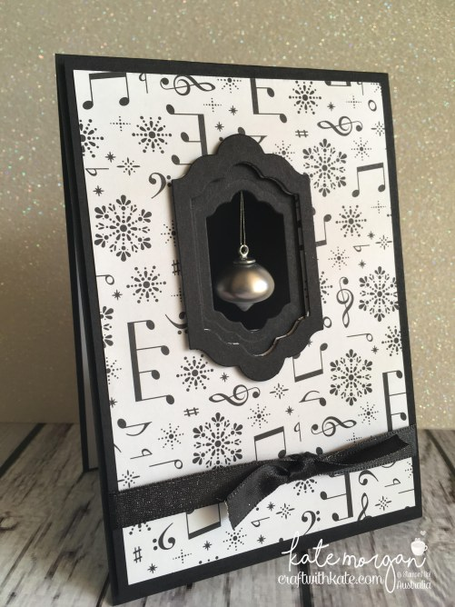 Handmade Christmas Card using Stampin Ups Merry Music DSP, Musical Season & Mini Ornaments by Craft with Kate, Independent Demonstrator Australia 2017 diy.jpg