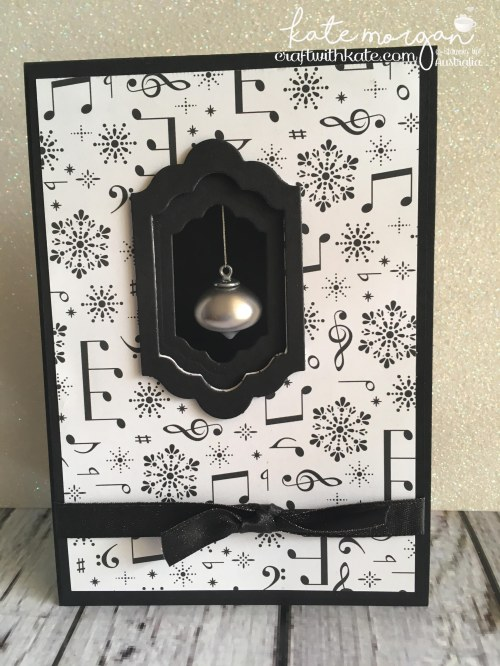 Handmade Christmas Card using Stampin Ups Merry Music DSP, Musical Season & Mini Ornaments by Craft with Kate, Independent Demonstrator Australia 2017.jpg