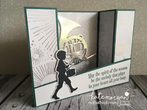 Heart of Christmas Inspiration using Stampin Up Musical Season & Yaer of Cheer Specialty DSP by Craft with Kate, Independent Demonstrator Australia 2017 Holiday catalogue Bridge Fold Car