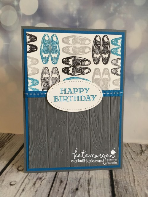 Masculine Birthday Card using Stampin Ups Guy Greetings by Kate Morgan, Independent Demonstrator, Australia. Craft with Kate