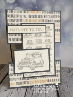 Masculine Card for Father's Day, Hats off to you using Stampin Ups Guy Greetings by Kate Morgan, Independent Demonstrator Australia. Craft with Kate #cutitnothoardit DIY