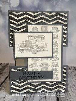 Masculine Card for Father's Day, Hats off to you using Stampin Ups Guy Greetings by Kate Morgan, Independent Demonstrator Australia. Craft with Kate DIY #cutitnothoardit